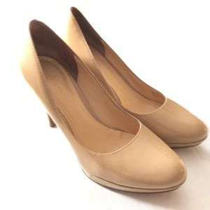 Cole Haan Patent Leather Nude High Heel Pumps